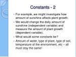 constants 2