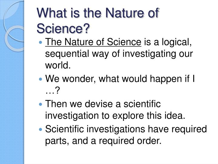 what is the nature of science n.