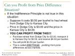 can you profit from price difference situation