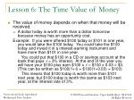 lesson 6 the time value of money