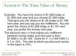 lesson 6 the time value of money2