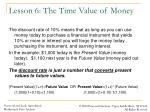 lesson 6 the time value of money3