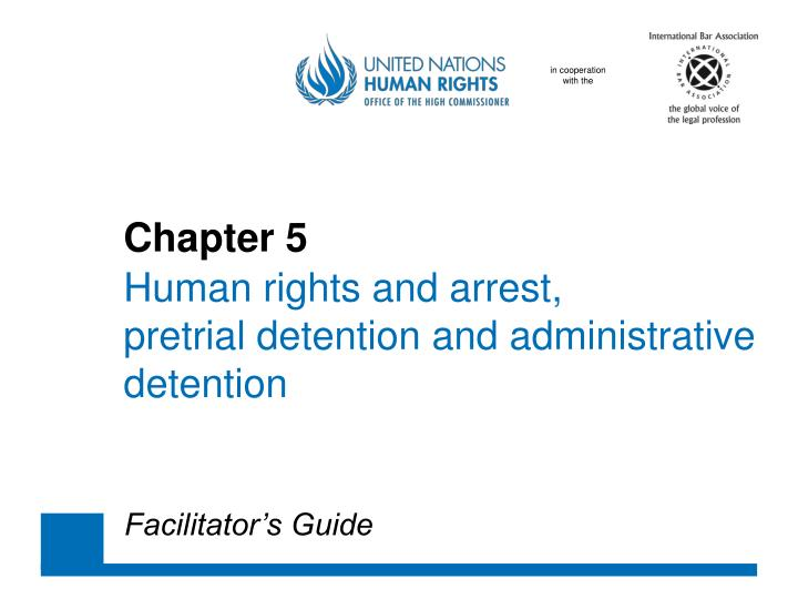 chapter 5 human rights and arrest pretrial detention and administrative detention n.