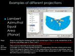 examples of different projections1
