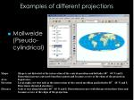 examples of different projections4