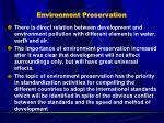 environment preservation