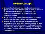 modern concept