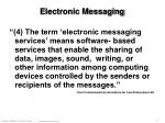 electronic messaging