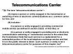 telecommunications carrier