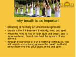 why breath is so important