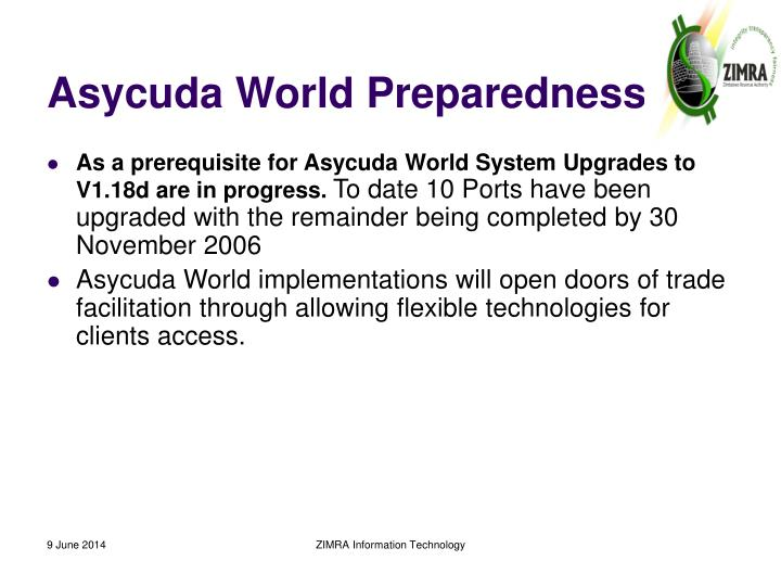 Asycuda World Preparedness