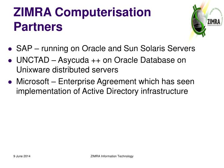 ZIMRA Computerisation Partners
