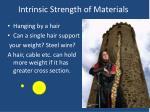 intrinsic strength of materials
