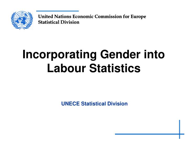 incorporating gender into labour statistics n.