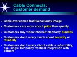 cable connects customer demand