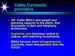 cable connects providers