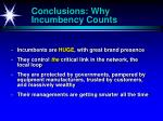 conclusions why incumbency counts