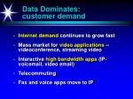 data dominates customer demand