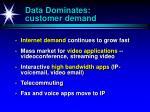data dominates customer demand
