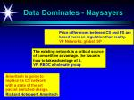 data dominates naysayers