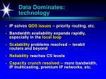 data dominates technology