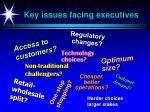 key issues facing executives