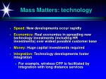 mass matters technology