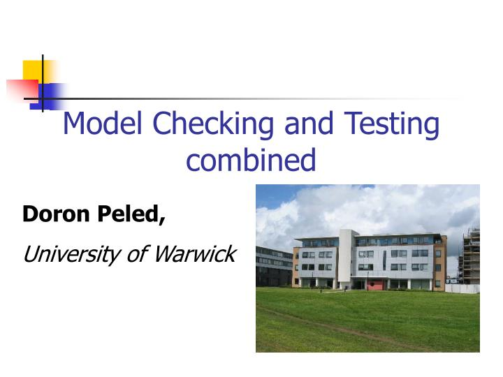 model checking and testing combined n.