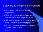 software engineering in context