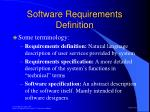 software requirements definition