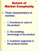extent of market complexity