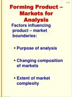 forming product markets for analysis