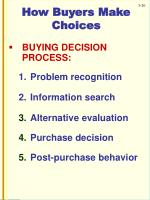 how buyers make choices