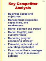 key competitor analysis