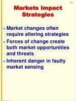 markets impact strategies
