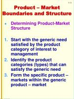product market boundaries and structure