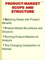 product market scope and structure