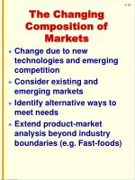 the changing composition of markets