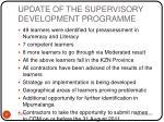 update of the supervisory development programme