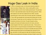 huge gas leak in india
