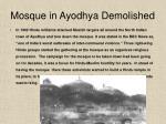 mosque in ayodhya demolished