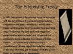 the friendship treaty