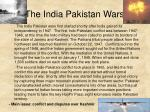 the india pakistan wars