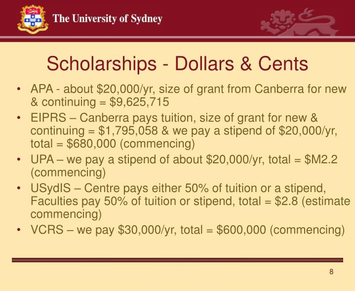 Scholarships - Dollars & Cents