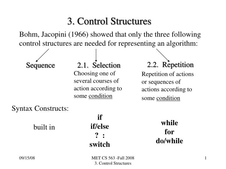 3 control structures n.