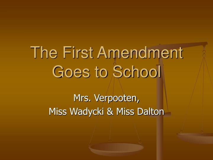 the first amendment goes to school n.