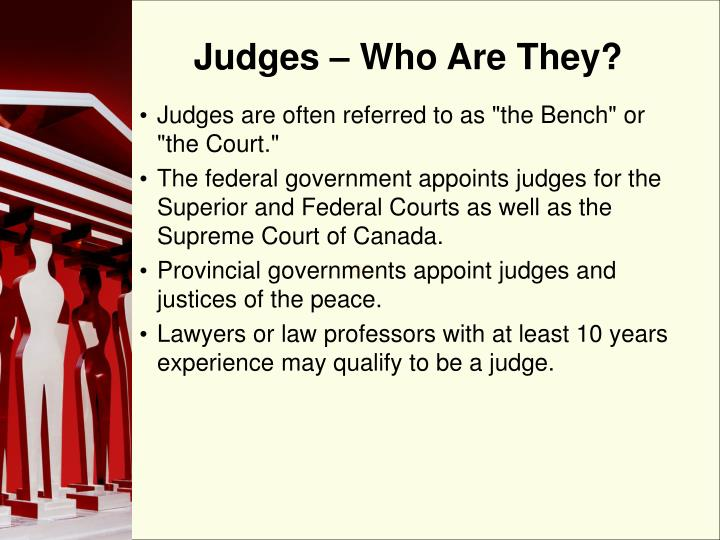 Judges who are they