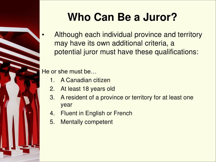 Who Can Be a Juror?