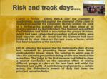risk and track days