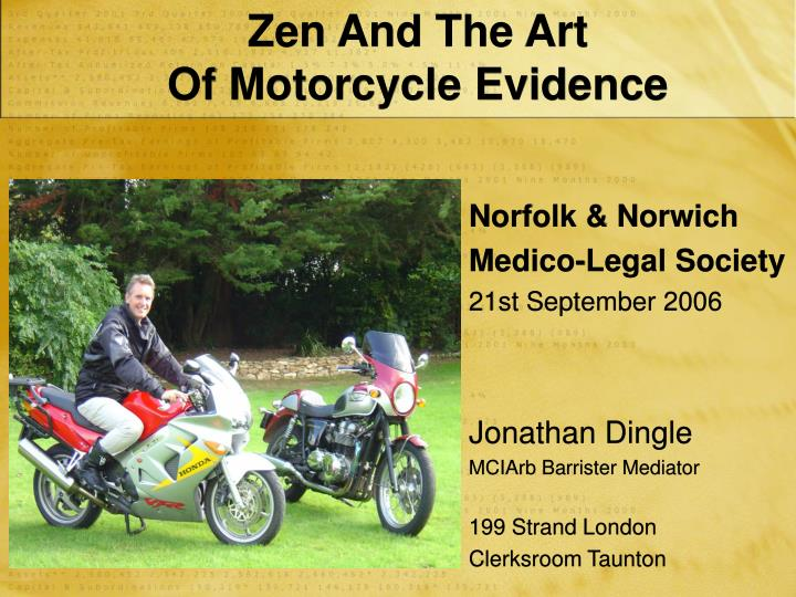 zen and the art of motorcycle evidence n.